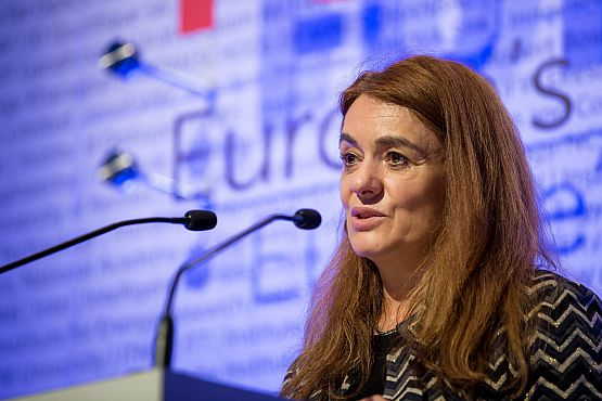 Speaker Lucilla Sioli of the European Commission at the symposium